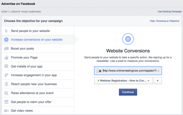 how-to-increase-webinar-signups-facebook-ads-ad-objective-1