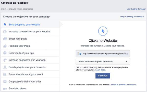 how-to-increase-webinar-signups-facebook-ads-ad-objective-2